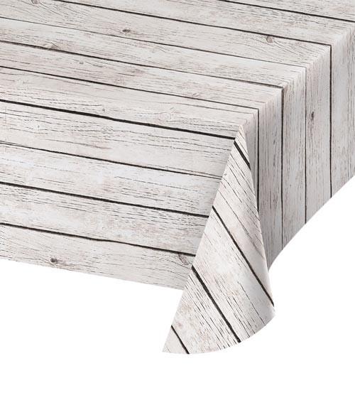 "Kunststoff-Tischdecke ""Vintage Holz"" - 137 x 274 cm"