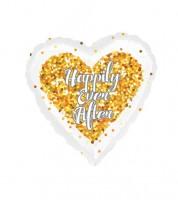 "Herz-Folienballon ""Happily Ever After"" - gold"