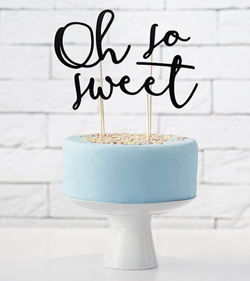 """Tortenstecker aus Papier """"Oh so sweet"""" - 3-teilig"""