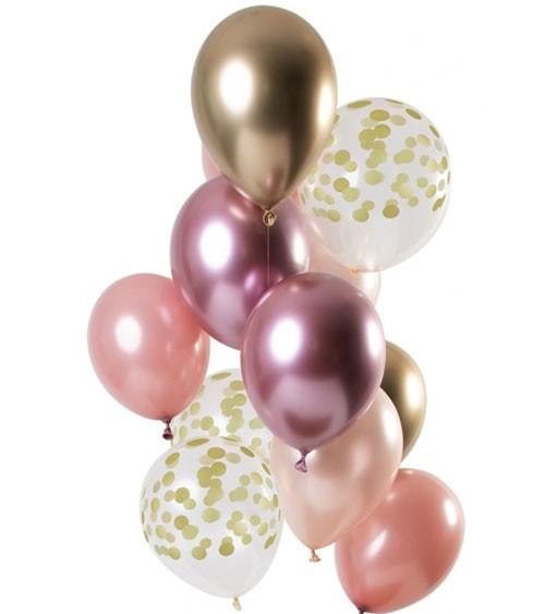 "Luftballon-Set ""Golden Blush"" - 12-teilig"