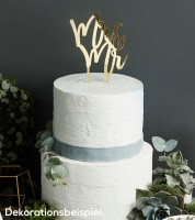 "Cake Topper aus Acryl ""Mr & Mr"" (Mann & Mann) - metallic gold"