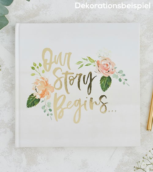 """Gästebuch """"Our Story Begins"""""""