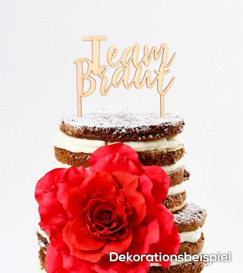 "Cake-Topper ""Team Braut"" aus Holz"
