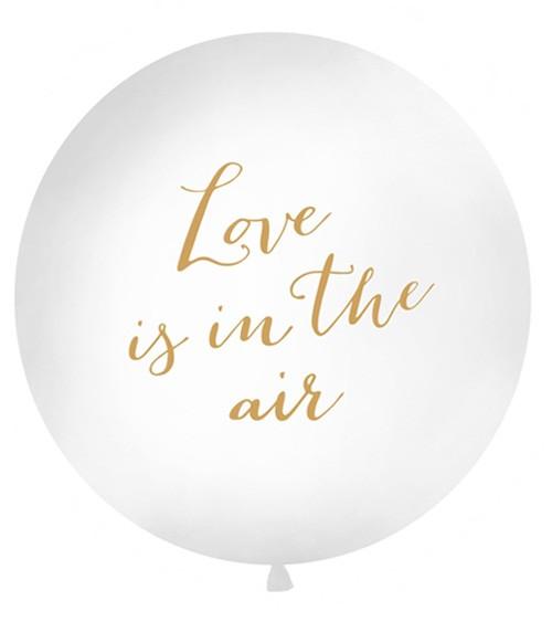 """Riesenballon """"Love is in the air"""" - weiß/gold - 1 m"""