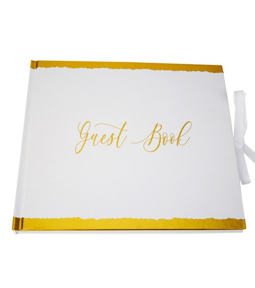 "Gästebuch ""Dipped in Gold"" - 22 x 19,2 cm"