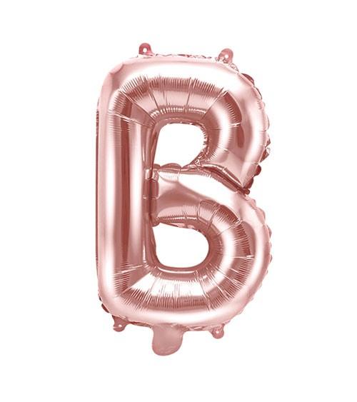 "Folienballon Buchstabe ""B"" - rosegold - 35 cm"