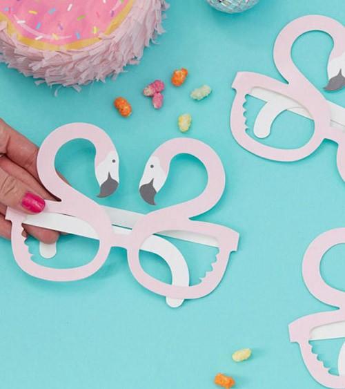 """Party-Brillen aus Pappe """"Flamingo"""" - 8 Stück"""