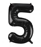 "Supershape-Folienballon ""5"" - schwarz - 86 cm"