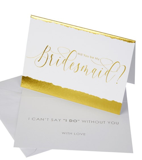 """Will you be my Bridesmaid-Karten """"Dipped in Gold"""" - 3 Stück"""