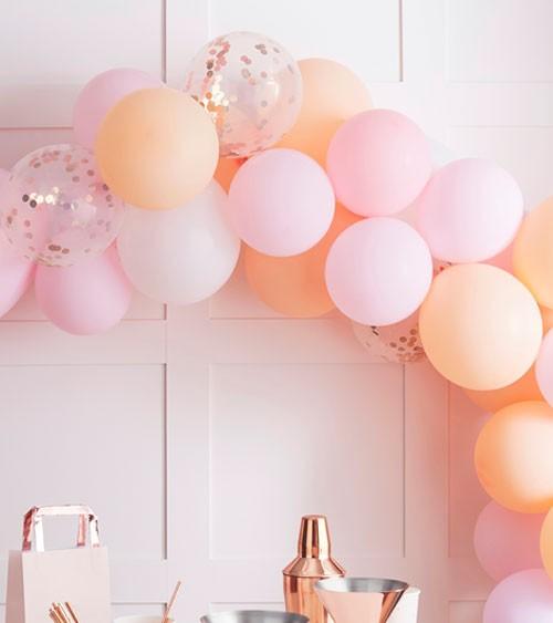 """Ballongirlanden-Set """"Peach Pastell"""" - 60-teilig"""