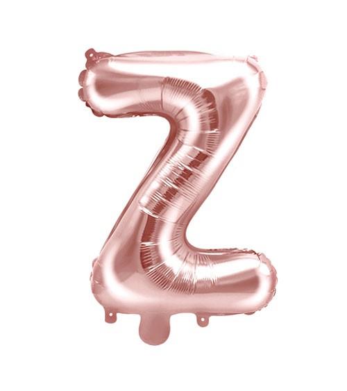 "Folienballon Buchstabe ""Z"" - rosegold - 35 cm"