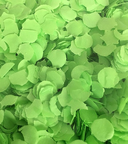 Papierkonfetti - 100 g - hellgrün