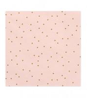 Servietten mit goldenen Pünktchen - rosa - 20 Stück