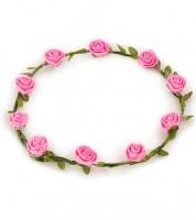 Rosen-Haarkranz - rosa