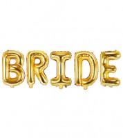 "Folienballon-Set ""Bride"" - gold"