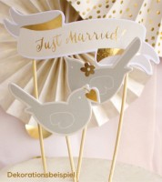 """Party Picks """"Just Married"""" - 6-teilig"""