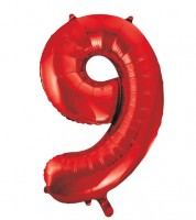 "Supershape-Folienballon ""9"" - rot - 86 cm"