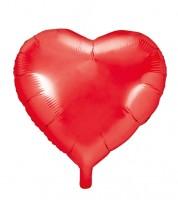 Herz-Folienballon - rot - 61 cm
